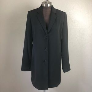 Yansi Fugel Long Black Blazer Jacket 14 XL